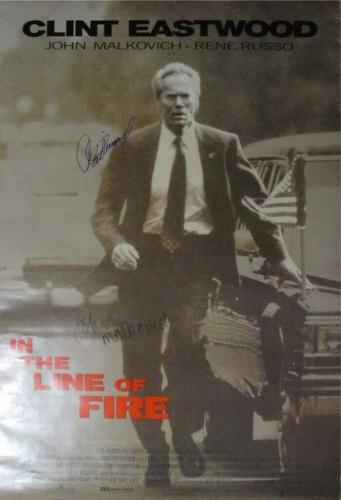 In The Line Of Fire Eastwood & Malkovich Autographed Signed Poster PSA/DNA LOA