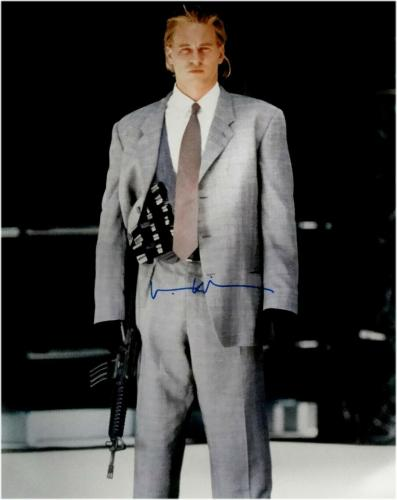 Val Kilmer Hand Signed 16x20 Photo Heat Sexy Pose Grey Suit With Gun JSA