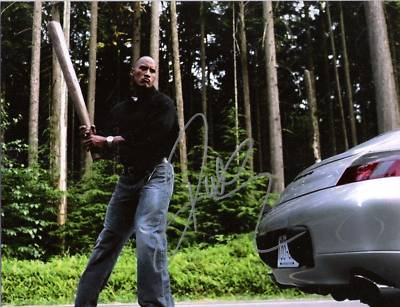 "THE ROCK ""WALKING TALL"" BIG STICK Sig 8x10 Color Photo"