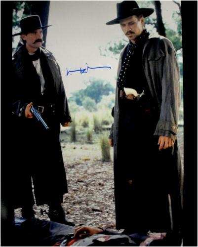 Val Kilmer Hand Signed 16x20 Photo Tombstone W/ Kurt Russell JSA