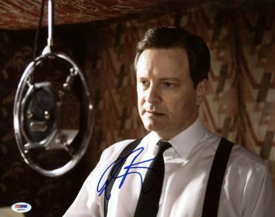 Colin Firth The Kings Speech Signed 11X14 Photo PSA/DNA #Q85611