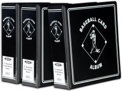 "3-3"" Baseball Card Collectors Album - Mounted Memories"