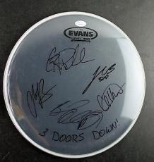3 Doors Down Signed Autographed Drum Head Arnold Henderson +3 JSA