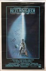 (3) Jones, Prowse & Bulloch Signed 27x40 Star Wars Return of the Jedi Poster BAS