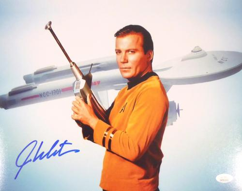 William Shatner Autographed 11x14 Photo Star Trek JSA Stock #159195