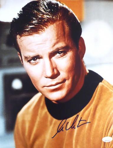 William Shatner Autographed 11x14 Photo Star Trek JSA Stock #159196