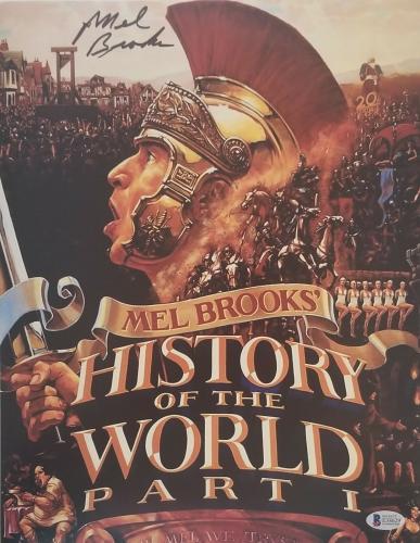 Mel Brooks Signed History Of The World Part 1 11x14 Photo Auto Bas Beckett Coa