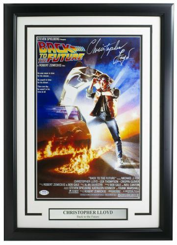 Christopher Lloyd Signed Framed Back To Future 11x17 Poster PSA/DNA