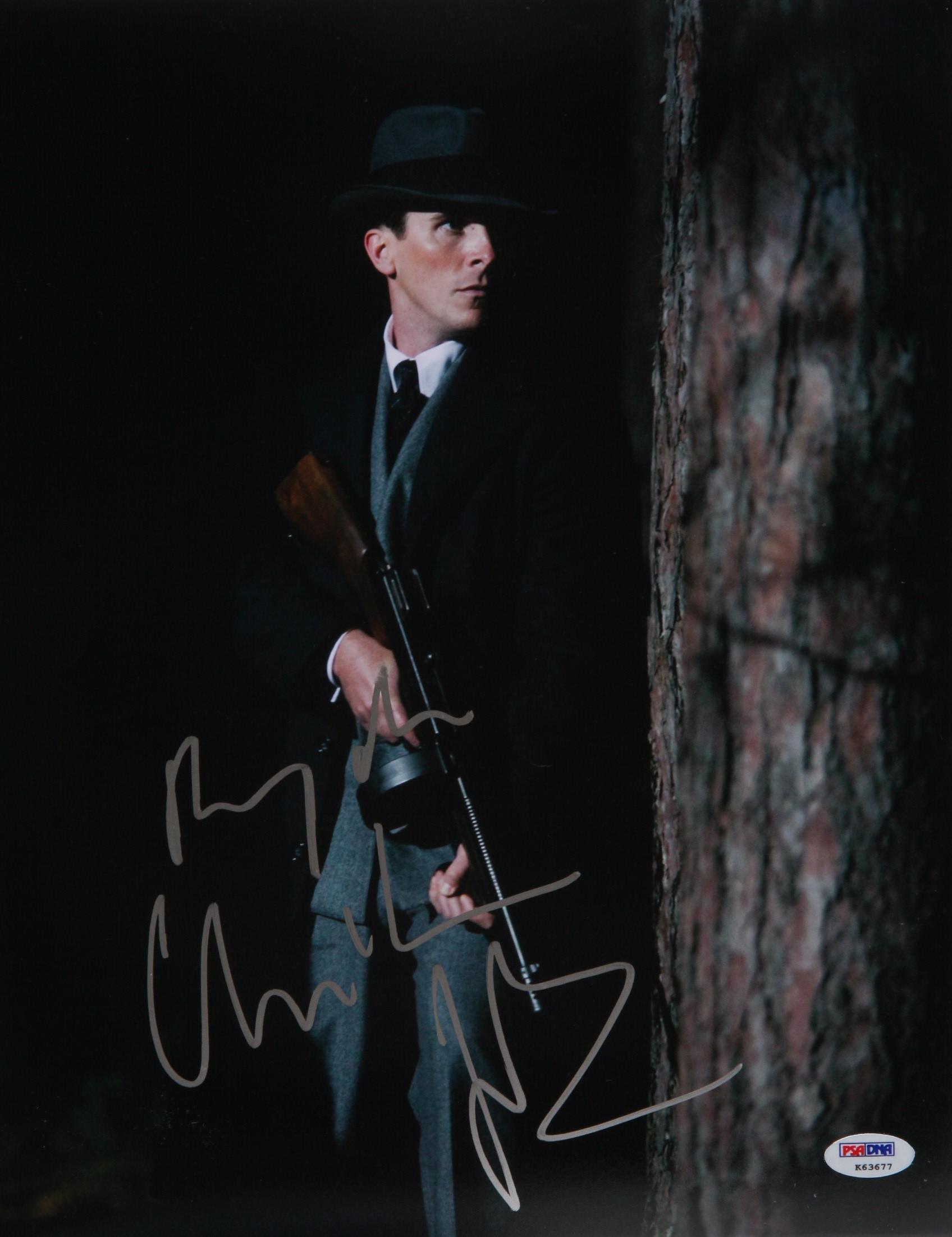Christian Bale Autographed 11x14 PSA/DNA