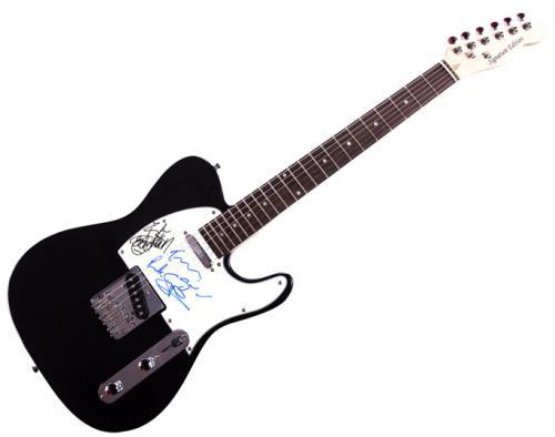 Def Leppard Autographed Signed Tele Guitar UACC RD COA PSA AFTAL
