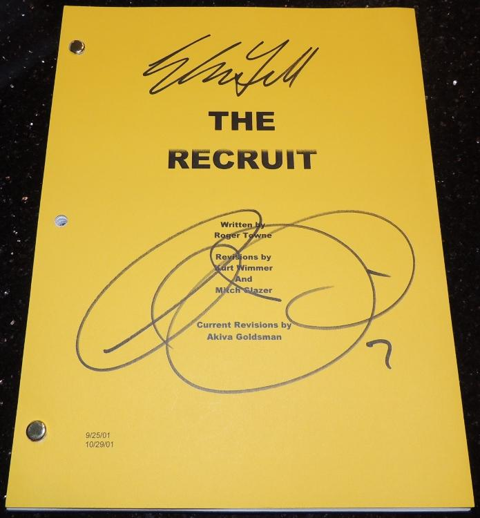 The RECRUIT Signed - Autographed Full Script by Al Pacino and Colin Farrell