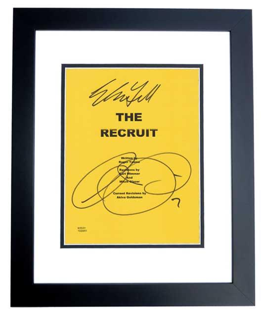 The RECRUIT Signed - Autographed Script - Guaranteed to pass PSA or JSA Cover by Al Pacino and Colin Farrell BLACK CUSTOM FRAME - Guaranteed to pass PSA or JSA