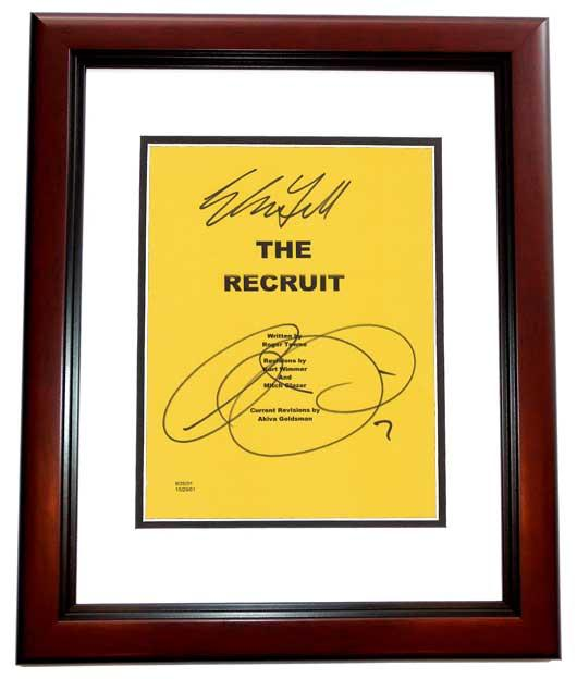 The RECRUIT Signed - Autographed Script - Guaranteed to pass PSA or JSA Cover by Al Pacino and Colin Farrell MAHOGANY CUSTOM FRAME - Guaranteed to pass PSA or JSA