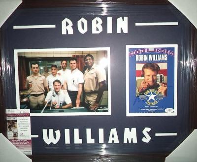"Robin Williams ""good Morning Vietnam"" Signed Double Matted & Framed B Jsa Coa"