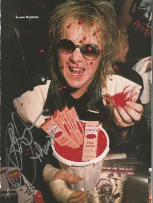 Jason Bonham Led Zeppelin Music Legend Signed Autograph 8x10 Magazine Page Coa K