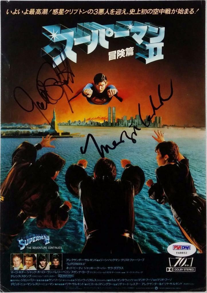 Margot Kidder Jack O'Halloran Signed Japanese Superman Magazine Photo PSA Y48852