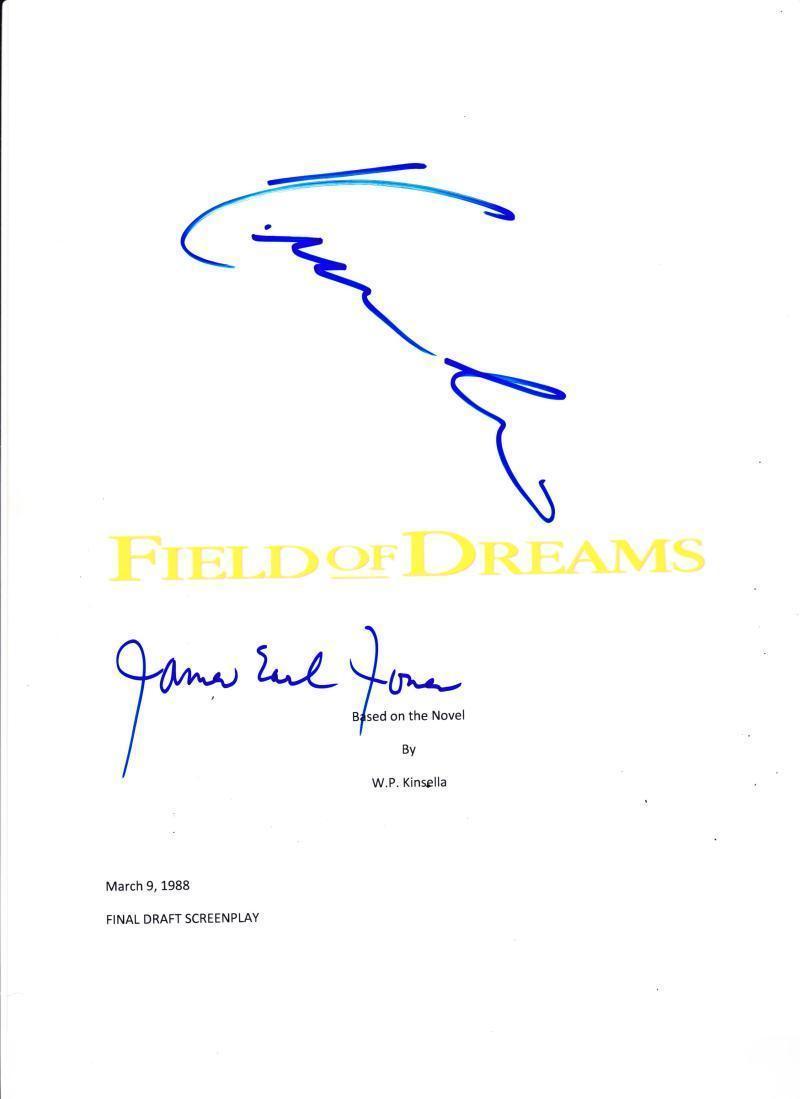 Kevin Costner James Earl Jones Signed Field Of Dreams 117 Page Script Autograph