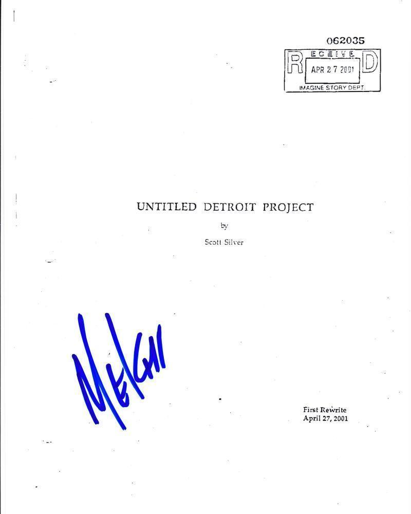 Mekhi Phifer Signed 8 Mile Full 113 Page Script Authentic Autograph Eminem Coa