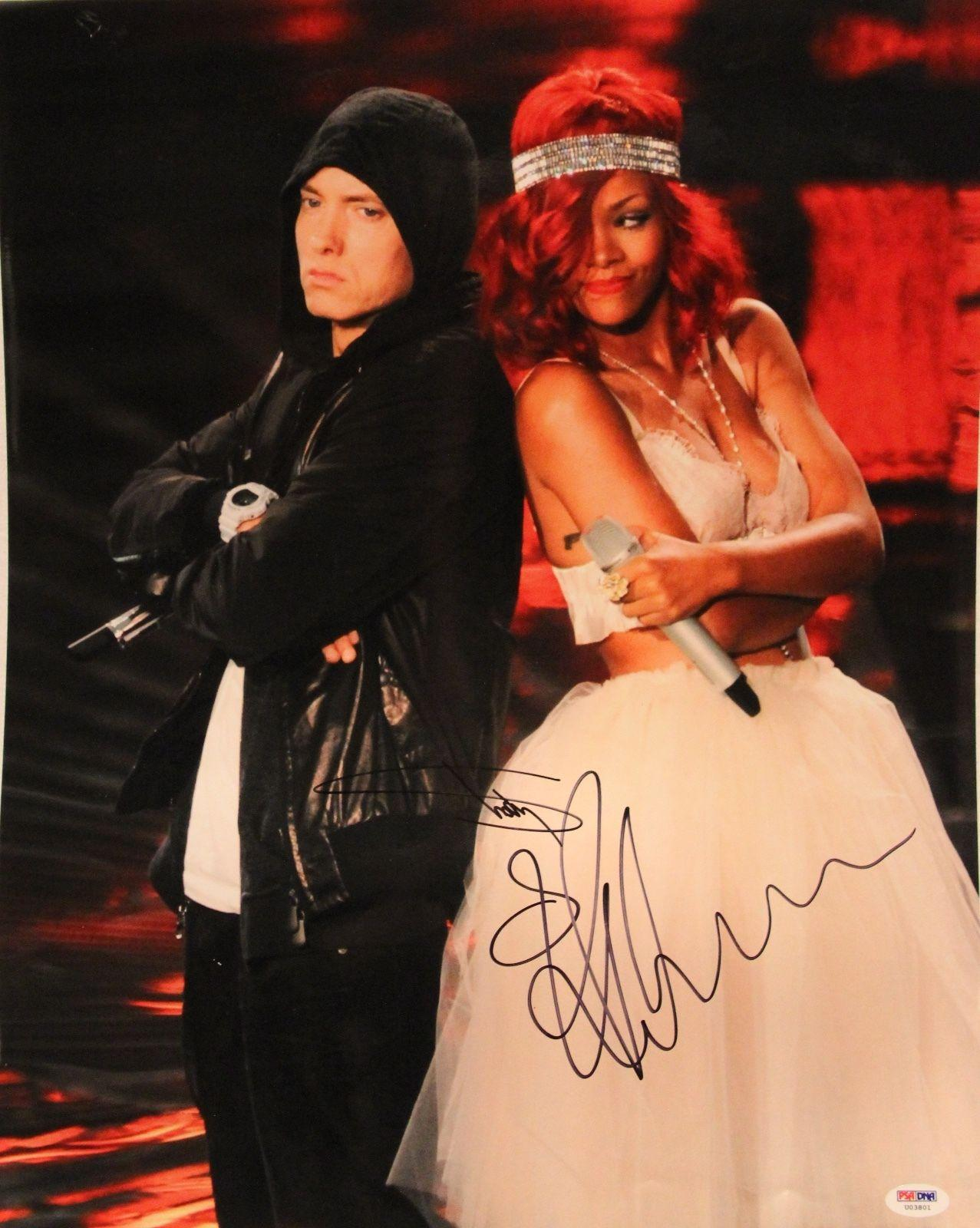 "EMINEM ""Slim Shady"" & RIHANNA Signed Autographed 16x20 Photo PSA/DNA #U03801"