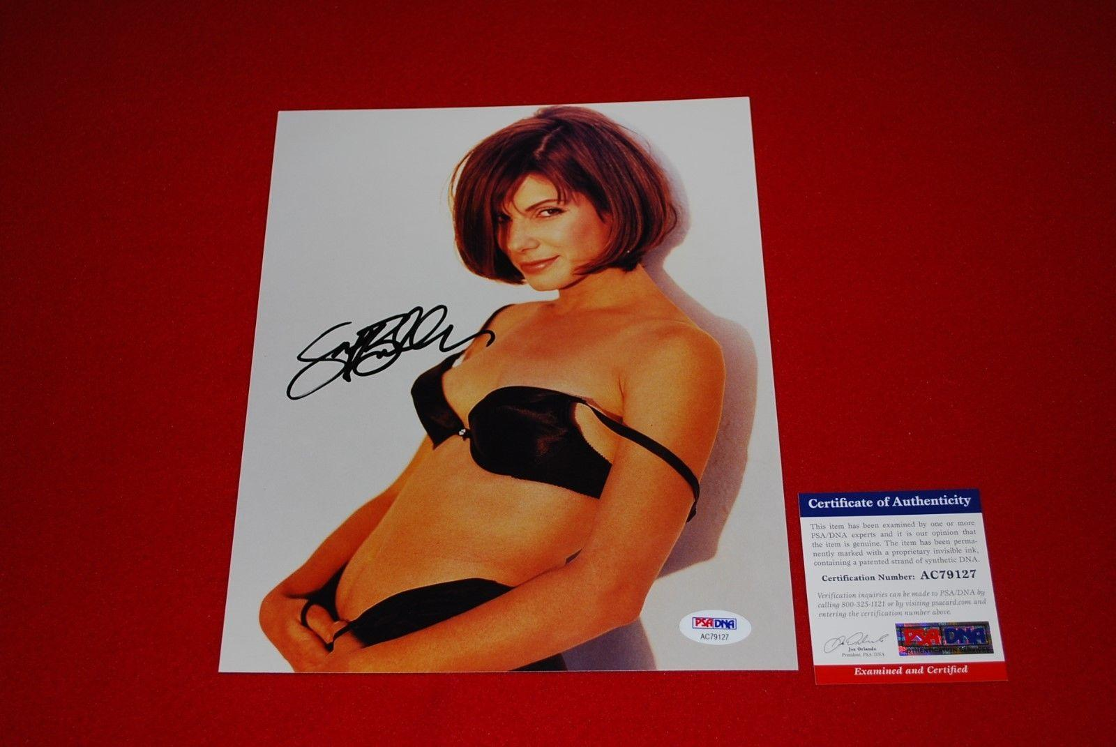 sexy SANDRA BULLOCK speed blindside gravity signed psa/dna 8x10 photo