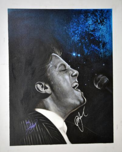 Billy Joel Autographed Signed 24x30 Canvas Custom Painting Exact Proof