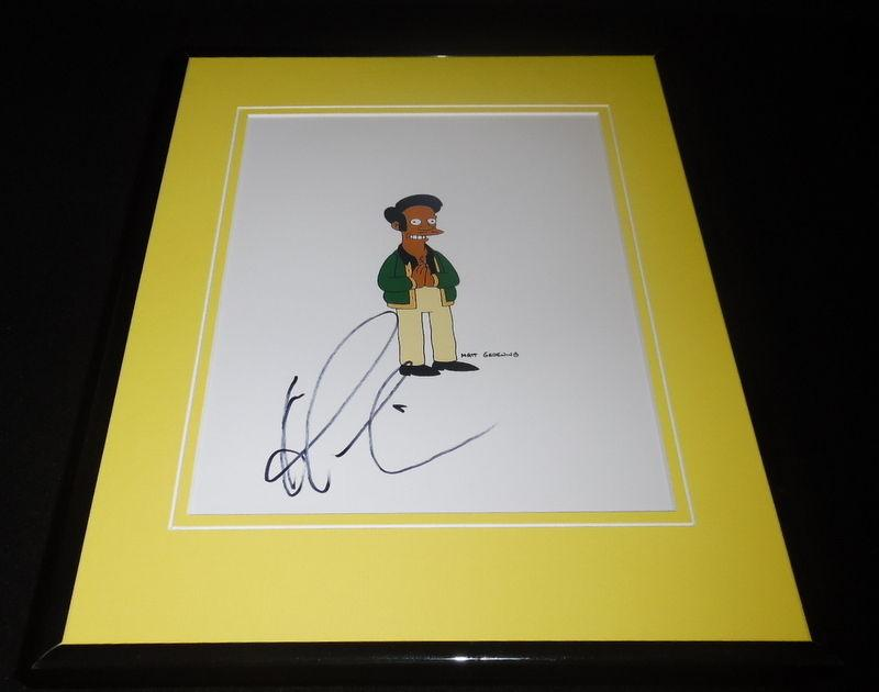 Hank Azaria Signed Framed 8x10 Photo AW The Simpsons Apu