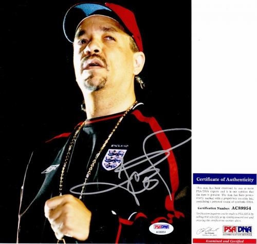 Rolling Stones Ice T Signed Magazine 11x14 Photo Autograph