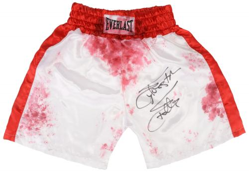 Sylvester Stallone Autographed Blood Stained Boxing Trunks - Beckett COA