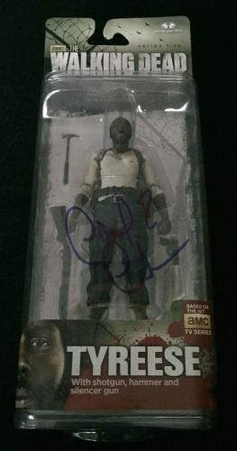 """Chad Coleman Signed 'the Walking Dead' Mcfarlane Figure """"tyreese"""" Psa/dna"""