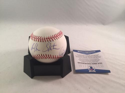 William Shatner Captain Kirk Signed Major League Baseball Bas Beckett Star Trek