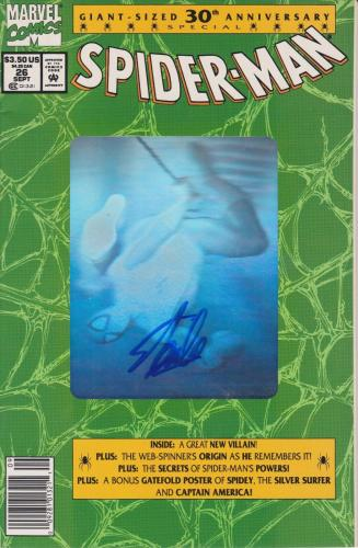 Stan Lee Autographed Spider Man 30th Anniversary Green Comic Book JSA WP500751
