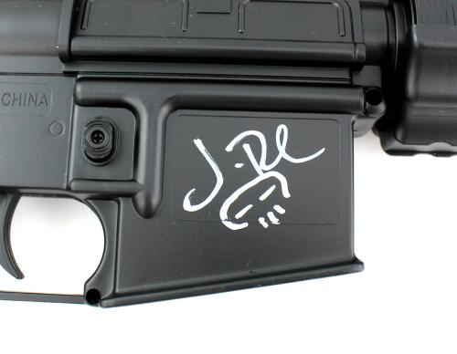 Jon Bernthal Signed Airsoft Assault Rifle with Punisher Skull Inscription