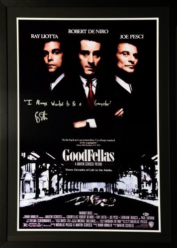 """Ray Liotta Framed Autographed 30"""" x 42"""" Goodfellas Movie Poster With Inscription - BAS COA"""