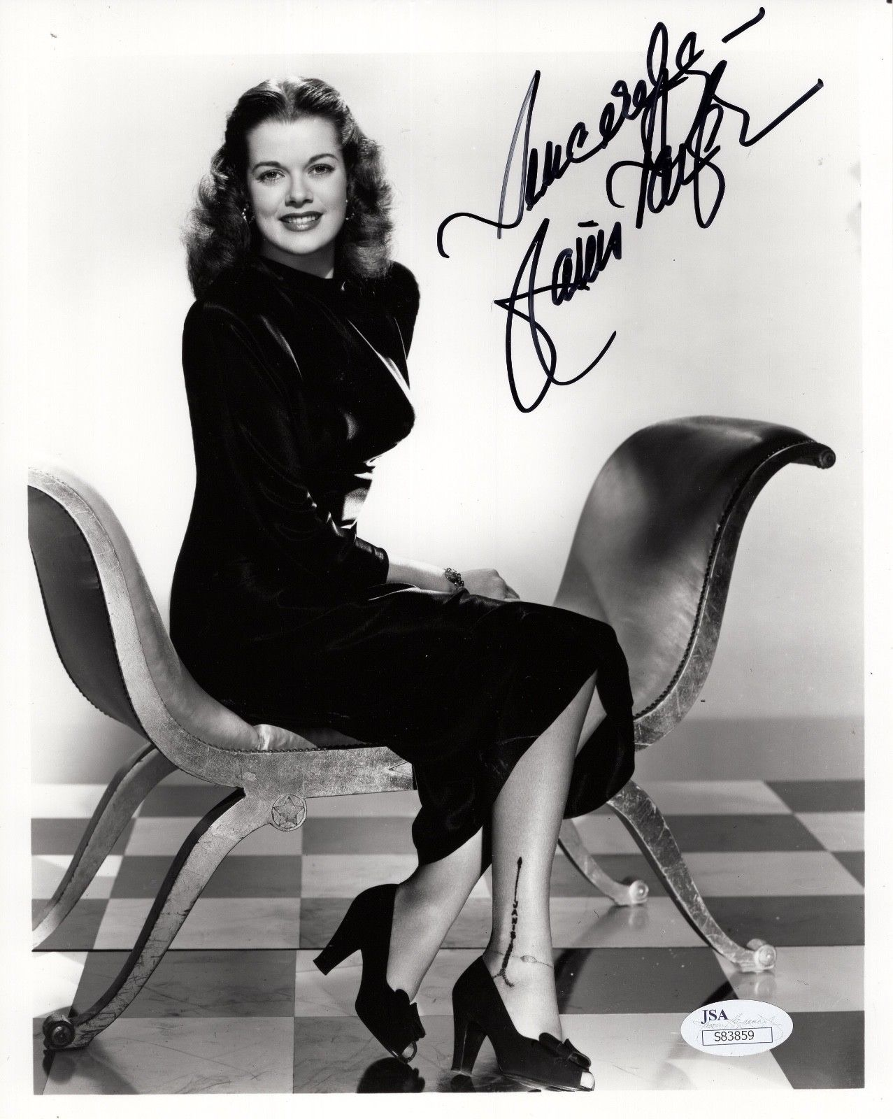 d00dbd26fe04c JANIS PAIGE HAND SIGNED 8x10 PHOTO GORGEOUS 50 s ...