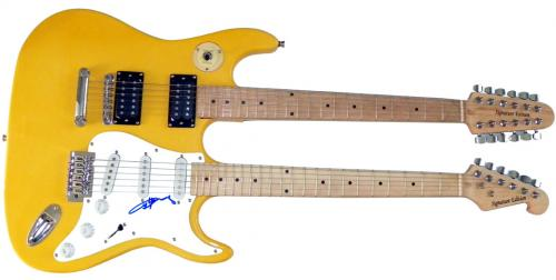 Angus Young Autographed Signed Doubleneck Guitar UACC RD COA AFTAL