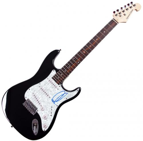 Adam Levine Autographed Signed Pearl Pickguard Guitar UACC RD COA AFTAL