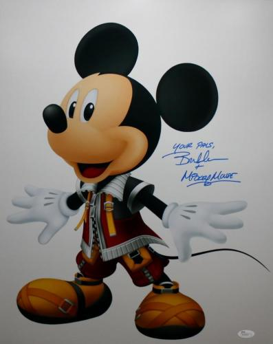 Bret Iwan Autographed Mickey Mouse Close Up 16x20 Photo- JSA Authenticated