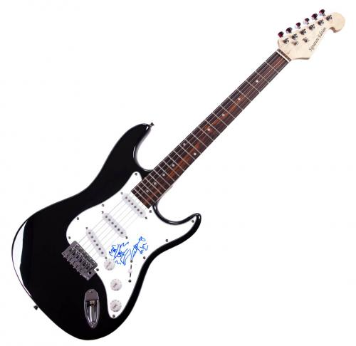 Angus Young Autographed ACDC Signed Guitar With Sketch AFTAL UACC RD COA