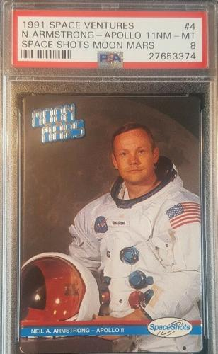 1991 Neil Armstrong Spece Shots Ventures Moon Mars Apollo 11 Graded PSA NM-MT 8