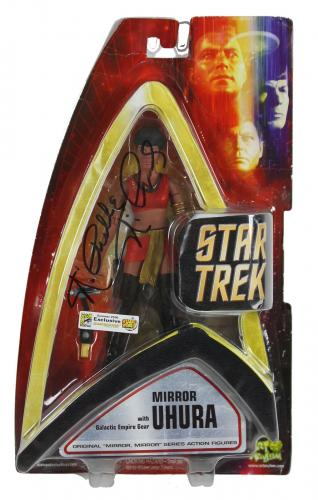 Nichelle Nichols Star Trek Signed 2006 Uhura Action Figure BAS #D07102