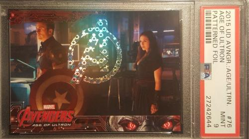 2015 Marvel Avengers UD Age of Ultron Captain America Patterned Foil PSA MINT 9