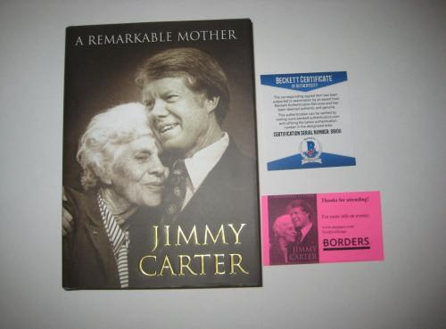 JIMMY CARTER Signed A REMARKABLE MOTHER Book w/ Beckett COA