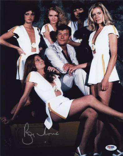 Roger Moore Signed James Bond 007 Photo 11x14 - Autographed PSA DNA 3