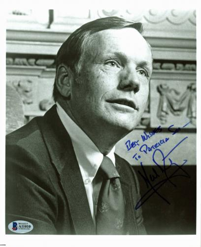 """Neil Armstrong """"Best Wishes"""" Signed 8x10 Black & White Photo BAS #A11010"""