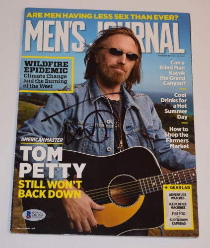 Tom Petty Signed Autographed Men's Journal Magazine Beckett BAS COA
