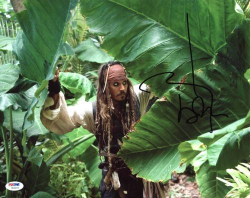 Johnny Depp Pirates Of The Caribbean Signed 11x14 Photo Graded 10! PSA #W04463
