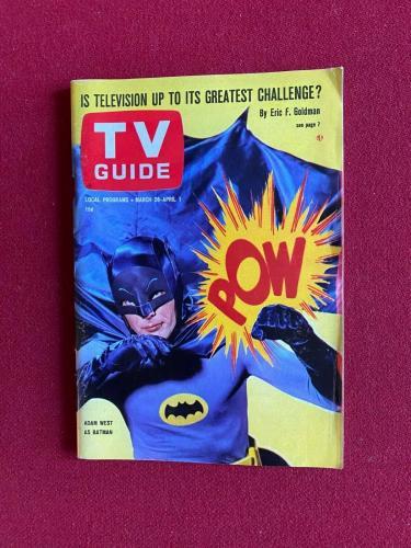 "1966, Batman (Adam West), ""TV GUIDE"" (No Label) Scarce / Vintage"