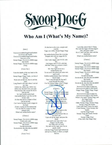 Music Entertainment Memorabilia Clever Snoop Lion Dogg Autographed Signed 8x10 Photo Racc Ts Aftal Uacc Coa