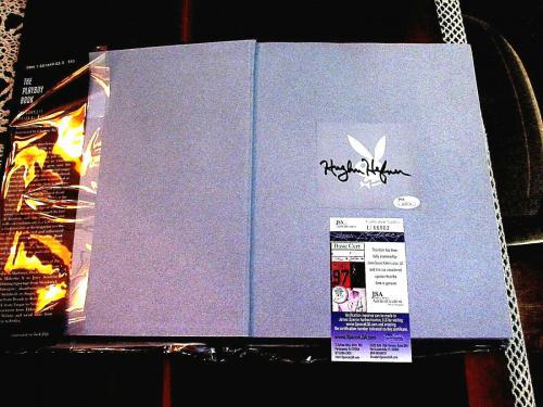 Hugh Hefner Playboy Forty Years 40th Of Playboy History Book Jsa Authentic Gem