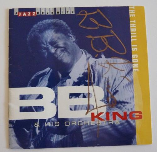 BB King & His Orchestra Signed Autographed CD Cover PSA & BAS Guaranteed READ
